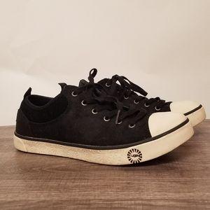 UGG Australian Taya Black Suede Sneakers